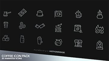 Coffee Animated Icons Pack