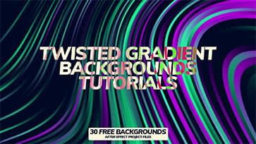 Twisted Gradient Backgrounds