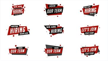 Hiring Banner animation