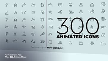 300 animated icon pack