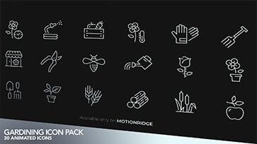 Gardening Animated Icons Pack